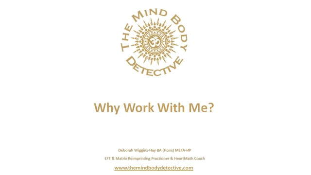 Why Work With Me?