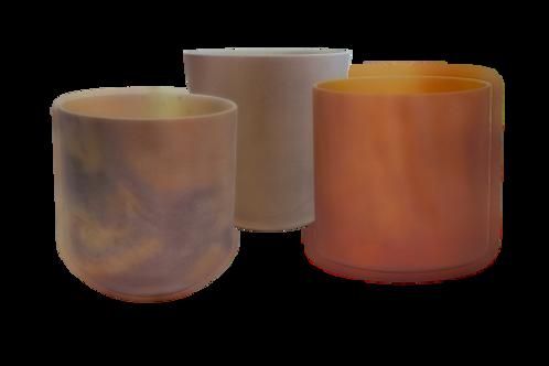 Indian Pipestone Alchemy Crystal Singing Bowls