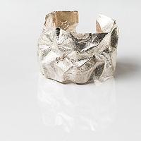 weavings wrinkled cuff silver.jpg
