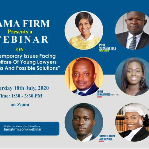 """""""Contemporary Issues Facing The Welfare Of Young Lawyers In Nigeria And Possible Solutions"""""""
