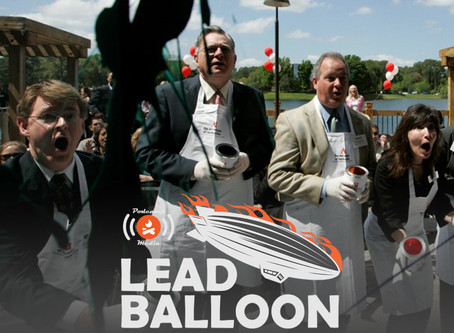 Lead Balloon Ep. 4 - We Don't Do Ribbon Cuttings, with Patrick McSweeney and Katrine Strickland