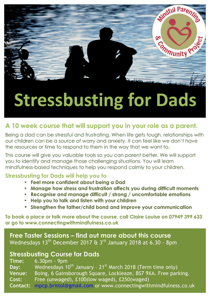 Stressbusting for Dads starting in January 2018!
