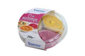 Hummus Trio - Oriental, Curry, Beetroot