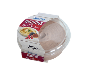 Hummus with figs and cranberries