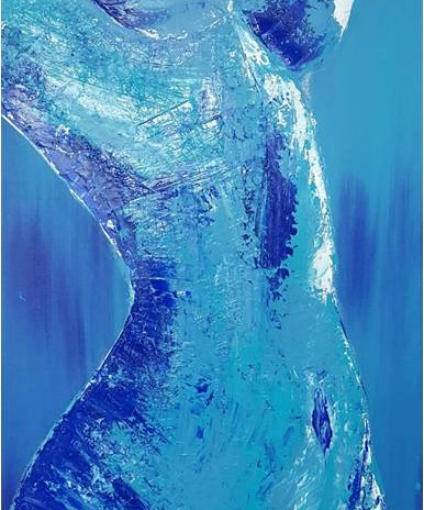 Blue Passion (in zwarte baklijst)/ finalist schildersprijs Kunst10daagse Bergen 2019 €475,00