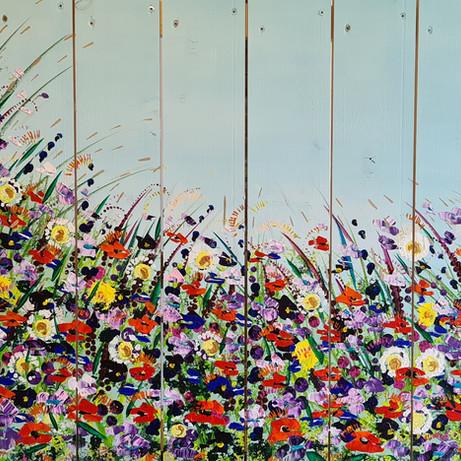 Buitenschilderij Veldbloemen (in opdracht)
