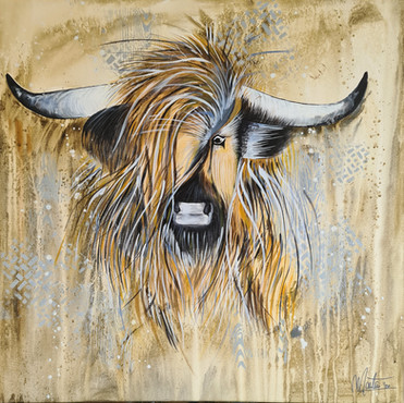 Highlander op Canvas, €245,=