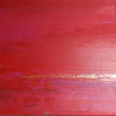 Zonsondergang (prijs loterij schilderprijs van het jaar 2020)