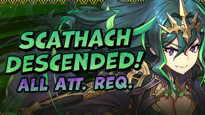 Scathach Descended!  Arrives!