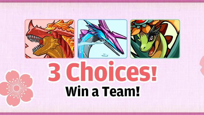 3 Choices! Win a Team!