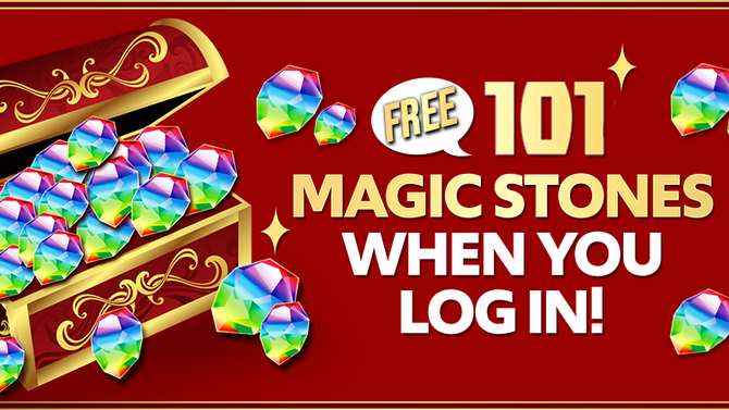 101 Magic Stones When You Log In!