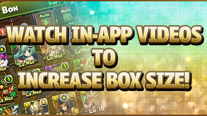 Watch In-App Videos to Increase Box Size
