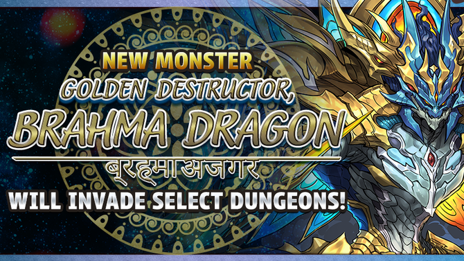 New Monster Golden Destructor, Brahma Dragon Will Invade Select Dungeons!