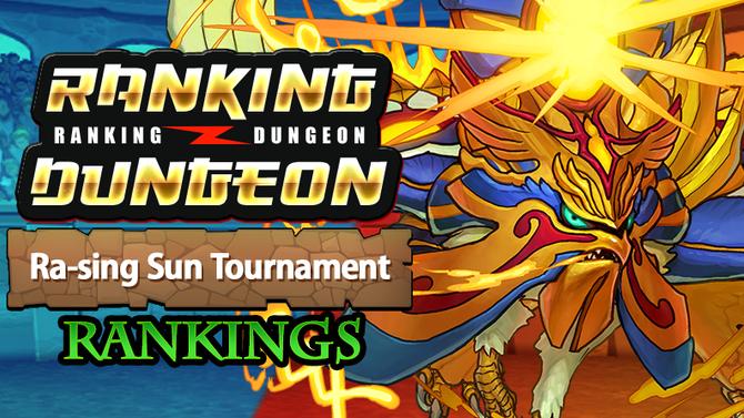 Ra-sing Sun Tournament Rankings