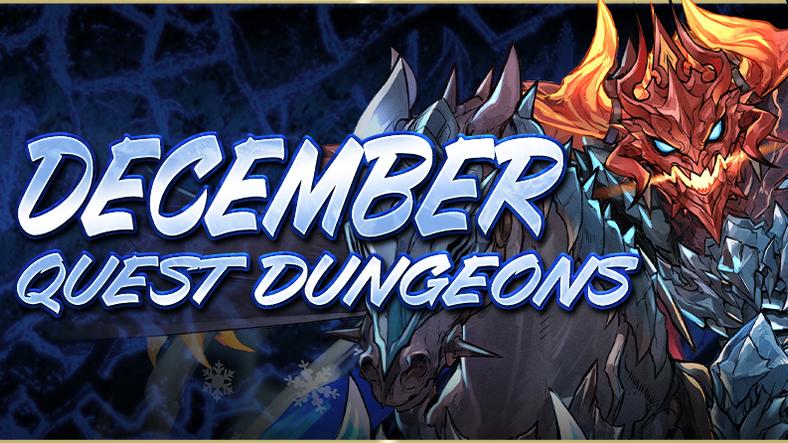 December Quest Dungeons