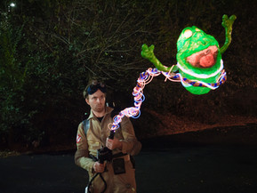 Ghostbusters costume and prop design (including light up proton stream and Slimer!) 2017