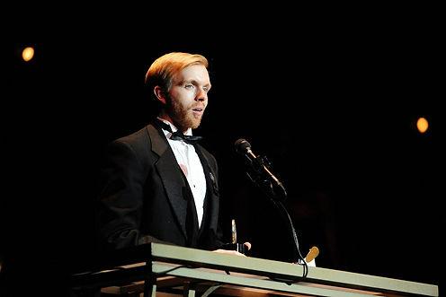 Matt McGee winning the James MacArthur Award