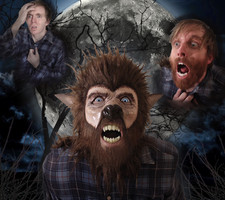 Wolfman mask and photo design made for Halloween. 2016