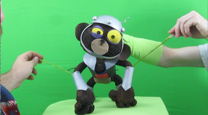 """Filming a space monkey for short film """"Epic Sci-Fi Standoff"""" 2010."""