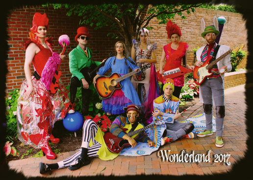 Cast photo design for Wonderland: Alice's Rock and Roll Adventure @ Imagination Stage 2017