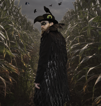 Crow costume and photo design for Halloween. 2016