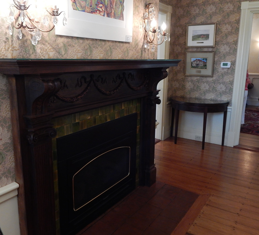 A restored fireplace