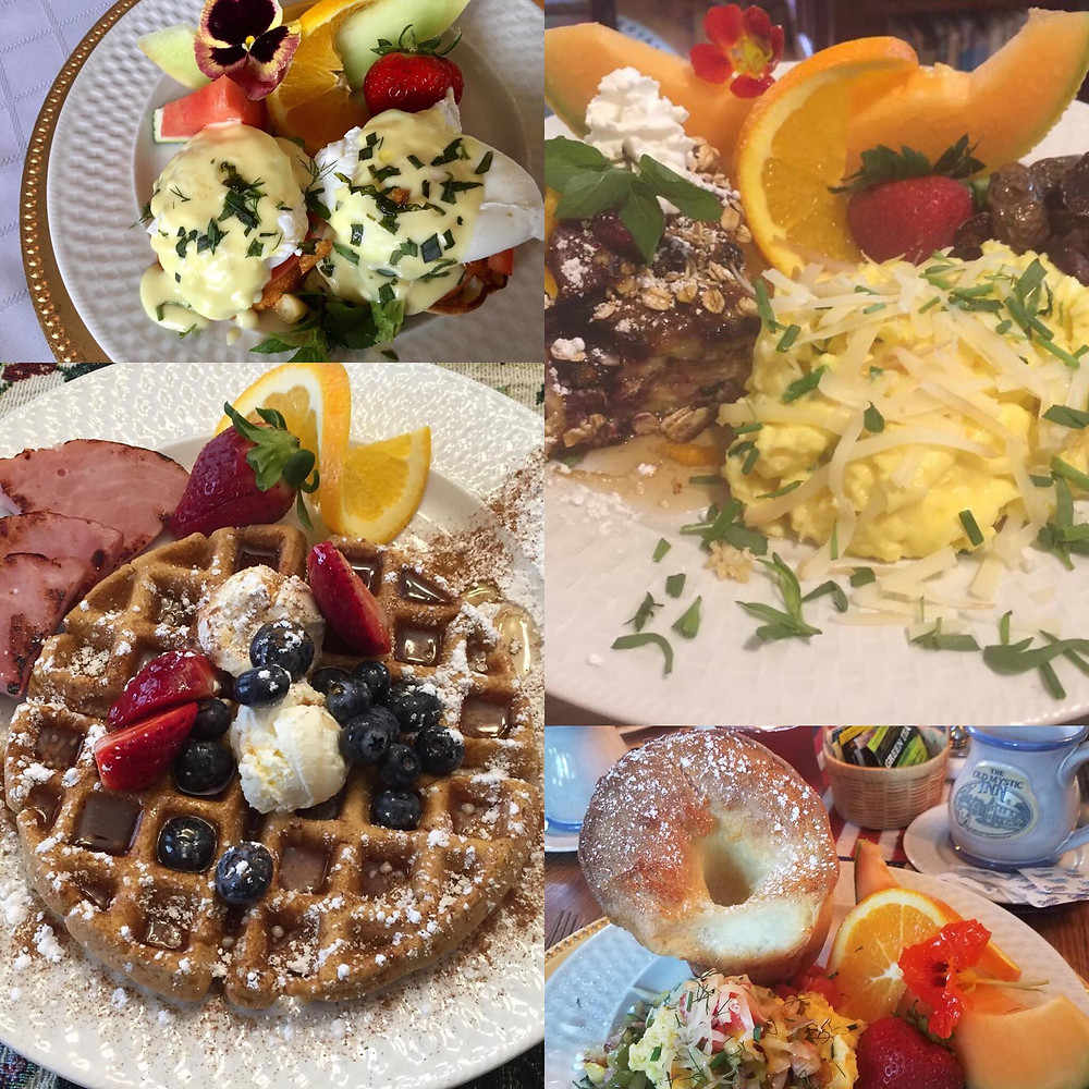 Breakfast creations of Innkeeper and Executive Chef Michael S. Cardillo, Jr.