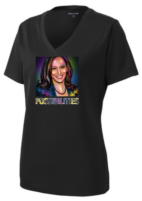 Kamala Possibilities Female Shirt Vneck Black