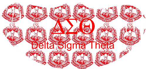 Delta Sigma Theta Mask With Symbols