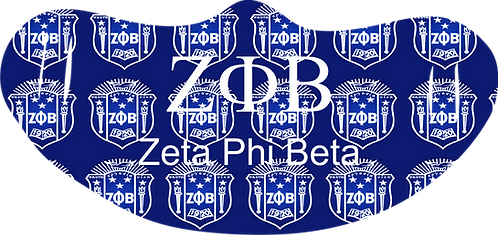 Zeta Phi Beta  Mask With Symbols
