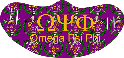 Omega Psi Phi Mask With Symbols