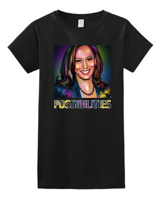 Kamala Possibilities Female Shirt Black