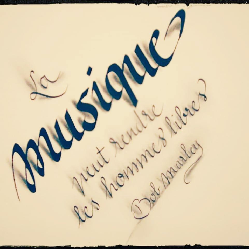 Calligraphie 3D