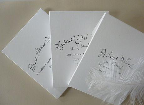 "Enveloppes calligraphiées ""fantaisie"""