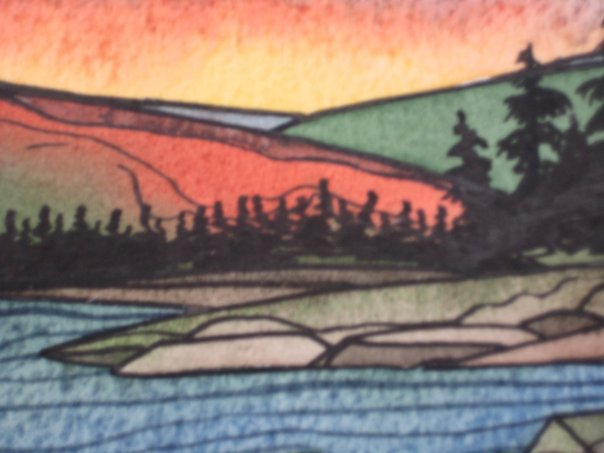 Temagami Ontario Watercolor