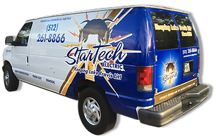 StarTech Electric Logo Van