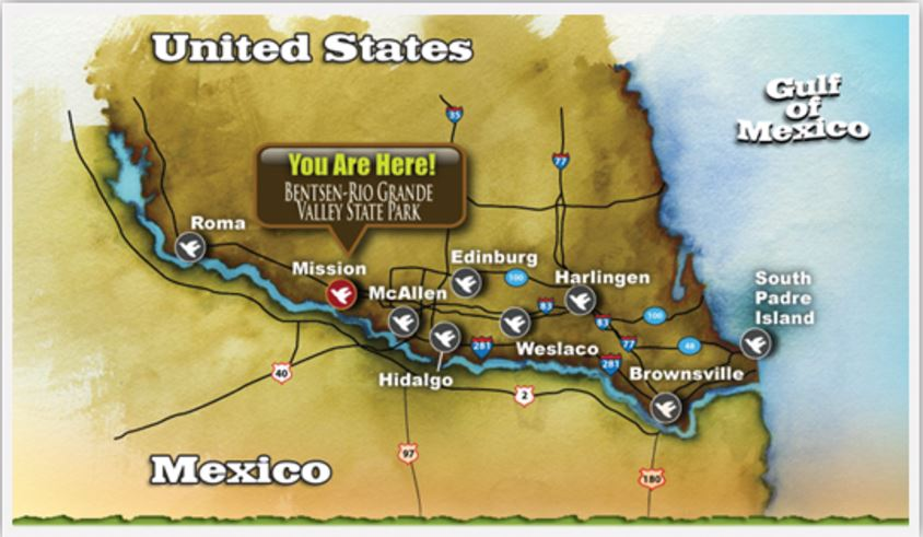 Birding Center S TX Map