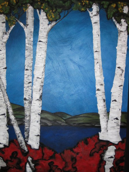 Birch Tree Lake Landscape