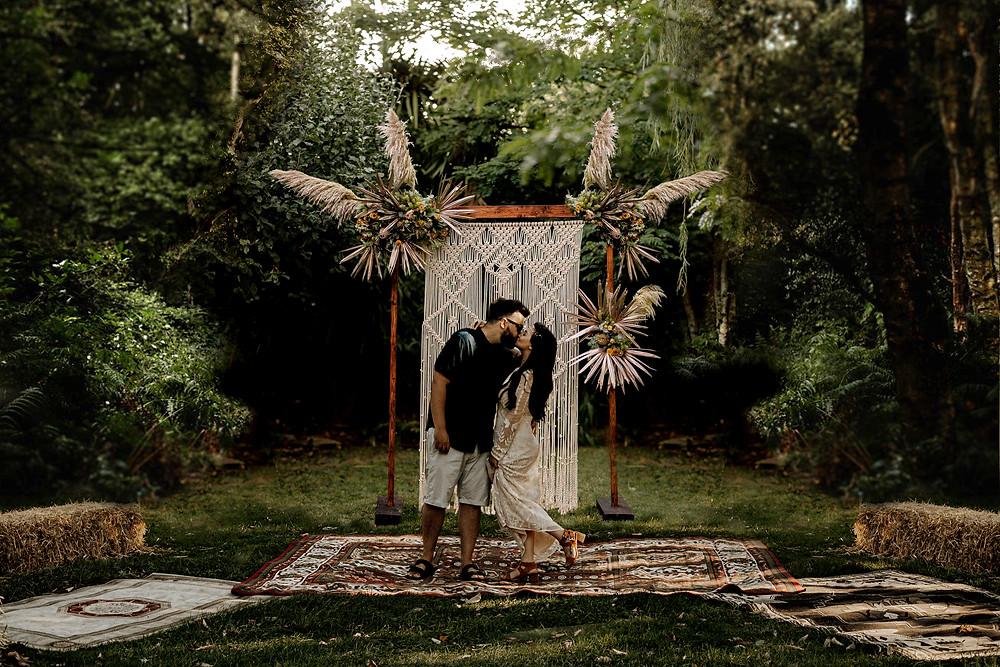 Boho Indie Wedding In The Woods