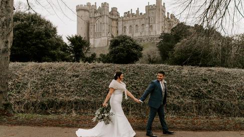 castle winter wedding