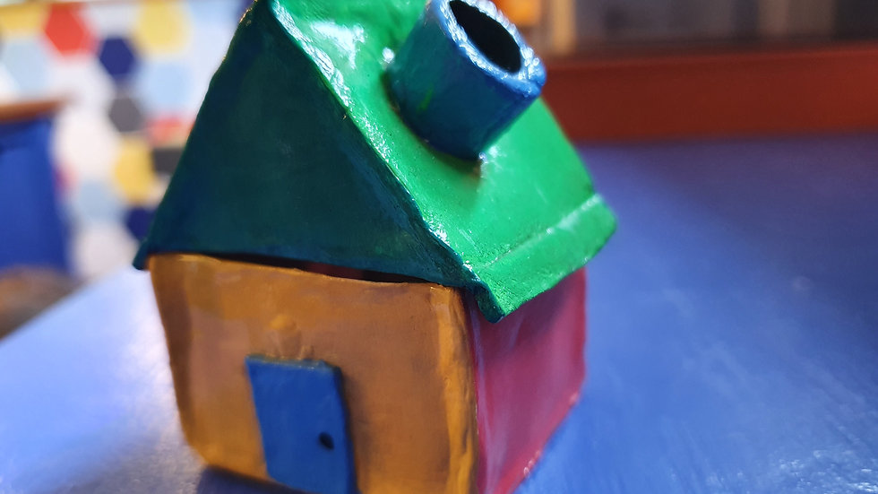 Handmade Clay Incense House