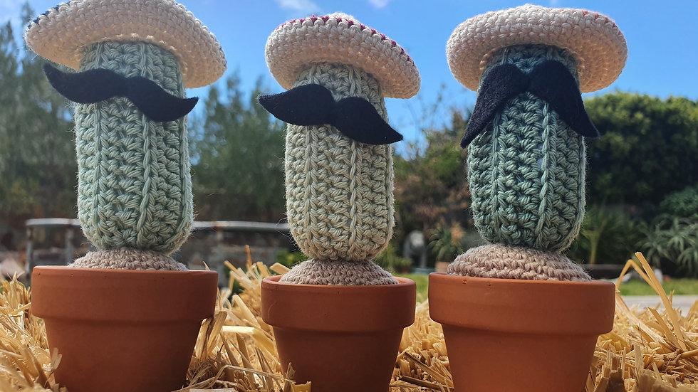 Mexican Bandito Crochet Cactus