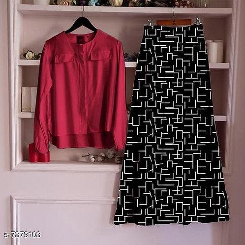 Classy Womens Top & Bottom Sets Top Fabric: Rayon Bottom