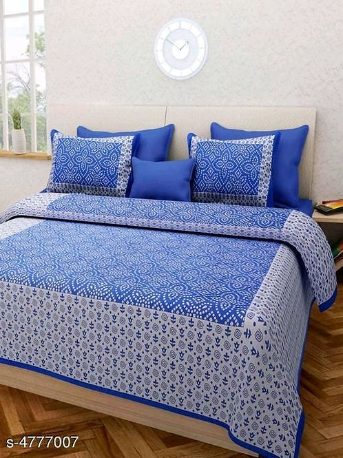 Classy Pure Cotton 100 x 90 Double Bedsheet