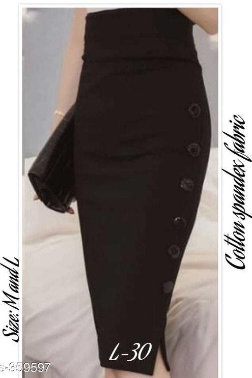 Beautiful Cotton Spandex Skirt