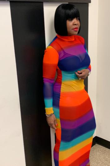 "Mesh ""Rainbow"" Maxi Dress"
