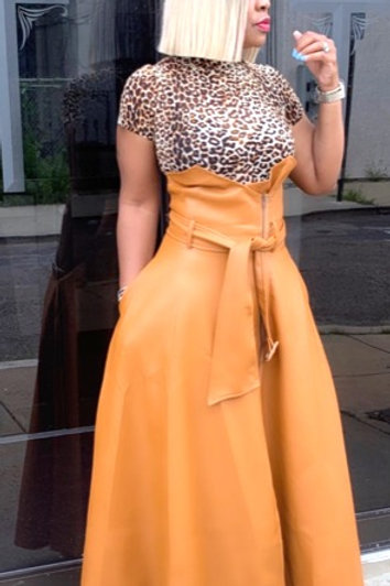 Amber Faux Leather Maxi Skirt