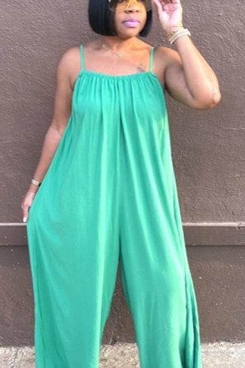 """Liya"" Oversized Jumpsuit (Green)"