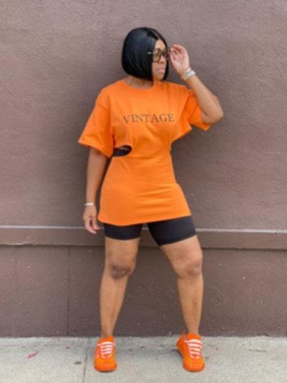 """Vintage"" Top (Orange)"