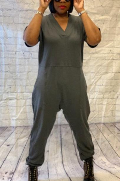"""Harlem"" Jumpsuit (Charcoal)"